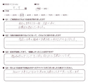 武蔵小金井 足首の痛み 30代男性 Y.Tさん