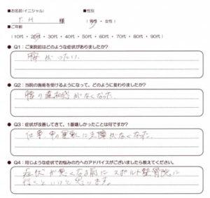 武蔵小金井 腰痛 20代男性 T.Hさん